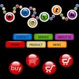 Jogo de moldes da navegação Imagem de Stock