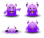 Jogo de monstro dos desenhos animados Fotografia de Stock Royalty Free