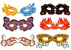 Jogo de máscaras do carnaval Imagem de Stock Royalty Free