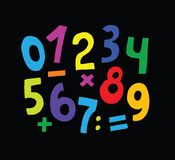 Jogo de números Fotos de Stock