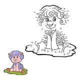 Jogo de números (carneiros) ilustração royalty free