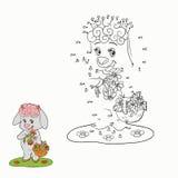 Jogo de números (carneiros) ilustração do vetor