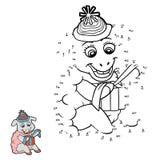 Jogo de números (carneiros) ilustração stock