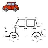 Jogo de números, carro ilustração stock