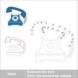 Jogo de números do vetor Telefone a ser seguido ilustração do vetor