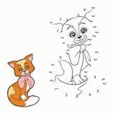 Jogo de números (gato) ilustração do vetor