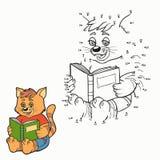 Jogo de números (gato) ilustração stock