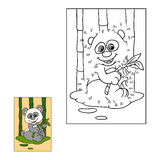 Jogo de números (panda) ilustração stock