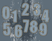 Jogo de números para a matéria têxtil Fotografia de Stock Royalty Free