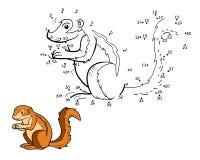 Jogo de números, jogo para crianças (esquilo à terra, xerus) Fotos de Stock Royalty Free