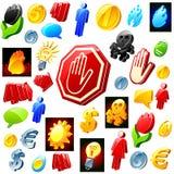 Jogo de objetos do estilo 3D. Imagem de Stock Royalty Free