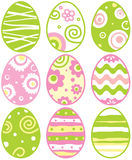 Jogo de ovos de easter Imagem de Stock Royalty Free