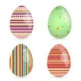 Jogo de ovos de easter coloridos Fotos de Stock