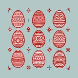 Jogo de ovos de easter coloridos ilustração royalty free