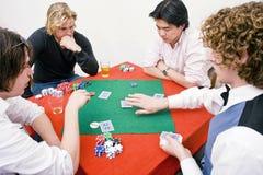 Jogo de póquer confidencial Imagens de Stock