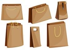 Jogo de pacotes de empacotamento do papel Foto de Stock Royalty Free
