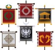 Jogo de padrões da fantasia Imagens de Stock Royalty Free