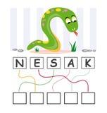 Jogo de palavra com serpente Fotos de Stock Royalty Free