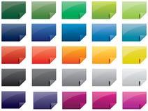 Jogo de papel colorido do ícone Imagens de Stock Royalty Free