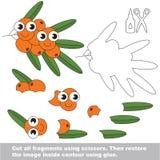 Jogo de papel da criança Pedido fácil para crianças com Buck Thorn ilustração stock