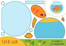 Jogo de papel para crianças, aquário da educação ilustração royalty free