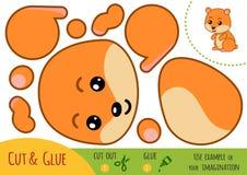 Jogo de papel para crianças, hamster da educação ilustração do vetor