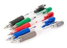 Jogo de penas coloridas Fotografia de Stock
