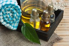 Jogo de petróleos do perfume imagem de stock