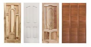 Jogo de portas de madeira imagens de stock royalty free