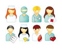 Jogo de povos médicos Imagem de Stock Royalty Free