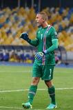 Jogo de qualificação Ucrânia v Islândia do campeonato do mundo 2018 de FIFA Imagens de Stock