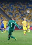 Jogo de qualificação Ucrânia v Islândia do campeonato do mundo 2018 de FIFA Fotos de Stock