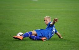 Jogo de qualificação Ucrânia v Islândia do campeonato do mundo 2018 de FIFA Fotografia de Stock Royalty Free