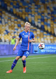 Jogo de qualificação Ucrânia v Islândia do campeonato do mundo 2018 de FIFA Imagem de Stock