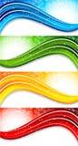 Jogo de quatro bandeiras coloridas ilustração royalty free