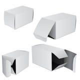 Jogo de quatro caixas Imagens de Stock