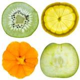 Jogo de quatro frutas Foto de Stock