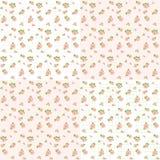 Jogo de quatro testes padrões florais Imagem de Stock Royalty Free