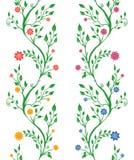 Jogo de quatro testes padrões florais Imagens de Stock