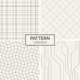 Jogo de quatro testes padrões sem emenda Imagem de Stock
