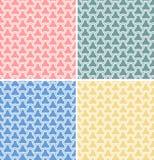 Jogo de quatro testes padrões sem emenda geométricos do vetor Imagens de Stock