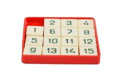 Jogo de quinze enigmas Foto de Stock