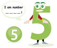 Jogo de Quiz com número cinco Imagem de Stock