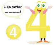 Jogo de Quiz com número quatro Imagem de Stock Royalty Free