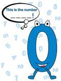 Jogo de Quiz com números Imagem de Stock
