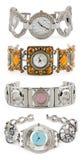 Jogo de relógios da mulher Imagens de Stock