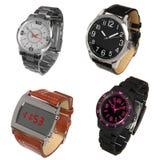 Jogo de relógios de pulso diferentes Fotografia de Stock