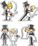 Jogo de retratos do casamento, vetor Imagem de Stock Royalty Free