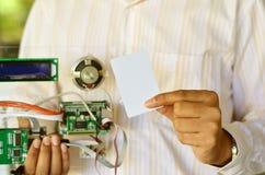 Jogo de RFID com estudante Foto de Stock Royalty Free