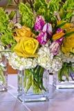 Jogo de Rosa e de tulip Imagens de Stock